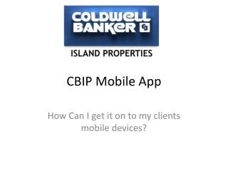 CBIP Mobile App