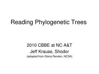 Reading Phylogenetic Trees