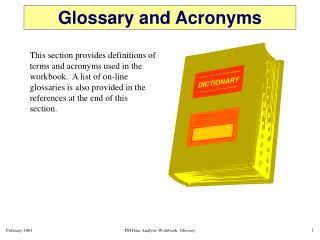 Glossary and Acronyms