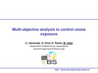 Multi-objective analysis to control ozone exposure