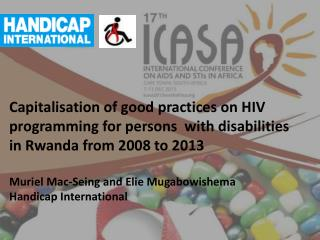 Background on the HIV and disability project