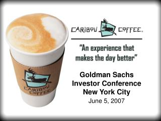 Goldman Sachs  Investor Conference New York City