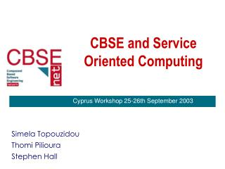 CBSE and Service Oriented Computing