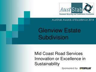Glenview Estate Subdivision