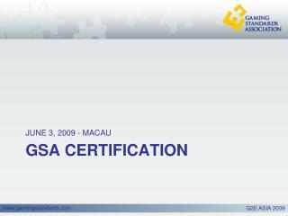 GSA CERTIFICATION