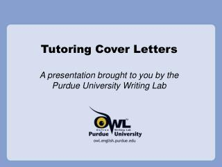 Tutoring Cover Letters