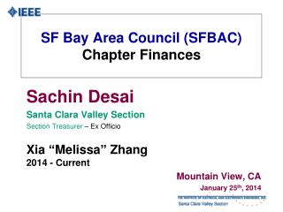 SF Bay Area Council (SFBAC) Chapter Finances