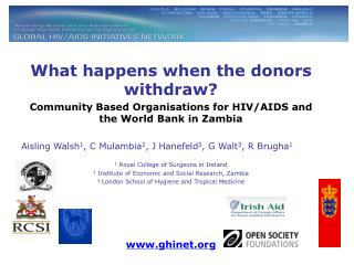 What happens when the donors withdraw?