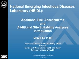 National Emerging Infectious Diseases Laboratory (NEIDL):