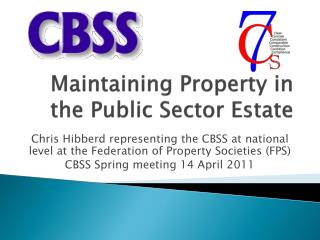 Maintaining Property in the Public Sector Estate