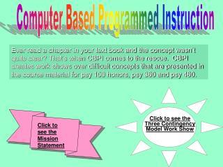 Computer Based Programmed Instruction