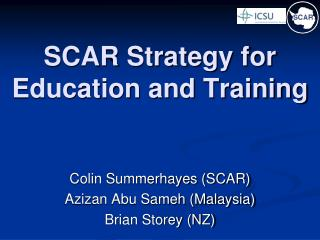 SCAR Strategy for Education and Training