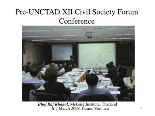 Pre-UNCTAD XII Civil Society Forum Conference
