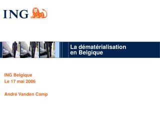 La dématérialisation  en Belgique