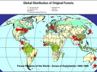 Forest Regions of the World - Zones of Exploitation 1800-1960