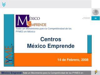 Centros  México Emprende