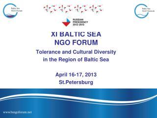 XI BALTIC SEA NGO FORUM