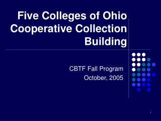 Five Colleges of Ohio Cooperative Collection Building