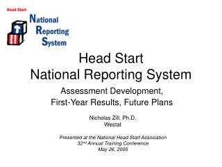Head Start  National Reporting System