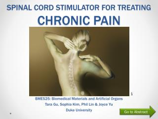 Spinal Cord Stimulator for treating  Chronic pain