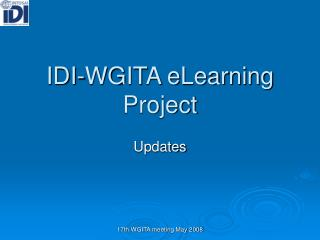 IDI-WGITA eLearning Project