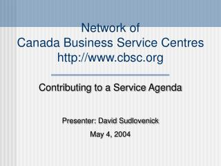 Network of  Canada Business Service Centres cbsc