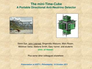 Steve Dye,  John Learned , Shigenobu Matsuno, Marc Rosen,
