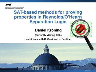 SAT-based methods for proving properties in Reynolds/O'Hearn Separation Logic