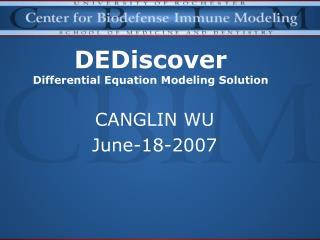 DEDiscover Differential Equation Modeling Solution