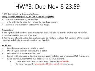HW#3: Due Nov 8 23:59