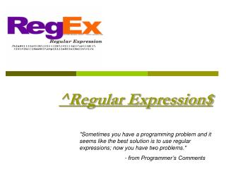 ^Regular Expression$