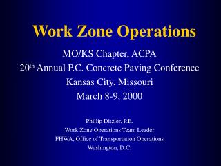 Work Zone Operations