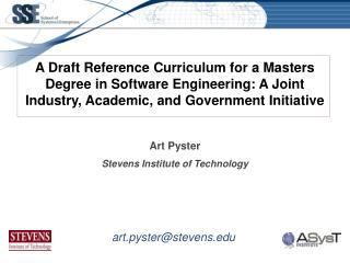 Art Pyster Stevens Institute of Technology