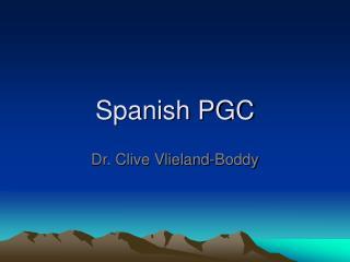 Spanish PGC