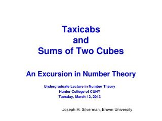Taxicabs  and  Sums of Two Cubes