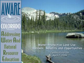 Water-Protective Land Use: Barriers, Benefits and Opportunities
