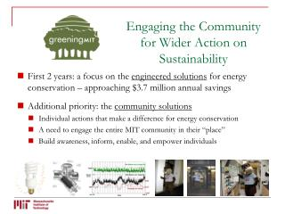 Engaging the Community for Wider Action on Sustainability
