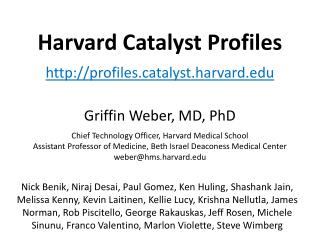 Harvard Catalyst Profiles profilestalyst.harvard