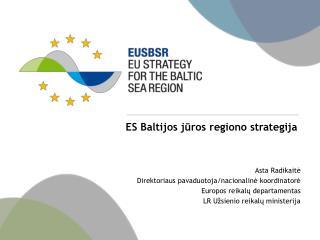 ES Baltijos j ūros regiono strategija