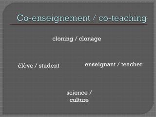 Co-enseignement /  co - teaching