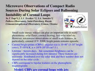 Microwave Observations of Compact Radio  Sources During Solar Eclipses and Ballooning