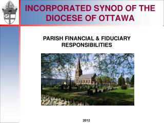 INCORPORATED SYNOD OF THE DIOCESE OF OTTAWA