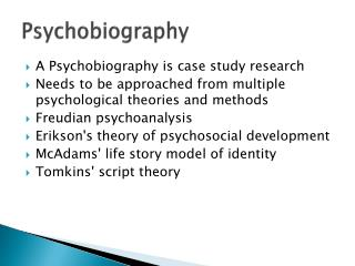 Psychobiography