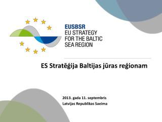 ES Stratēģija Baltijas jūras reģionam