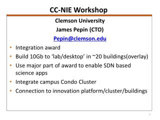 CC-NIE Workshop