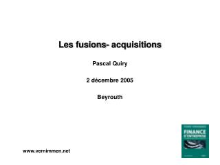 Les fusions- acquisitions