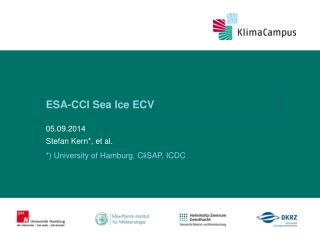 ESA-CCI Sea Ice ECV