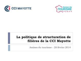 La politique de structuration de filières de la CCI Mayotte