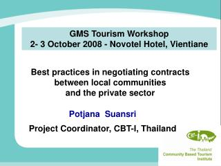 Best practices in negotiating contracts  between local communities  and the private sector