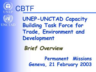 UNEP-UNCTAD Capacity Building Task Force for Trade, Environment and Development